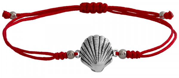 Wunscharmbändchen Sea Shell • 925er Silber • Rot