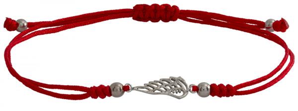 Wunscharmbändchen Fügel • 925er Silber • Rot