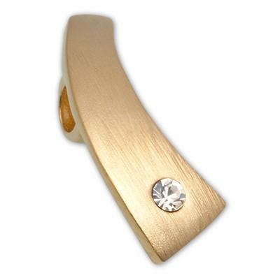 CLIXS Kettenanhänger Sichel, 925er Silber, vergoldet mit Strass