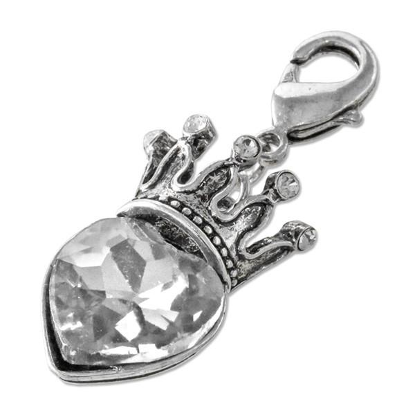 CLIXS Kettenanhänger Kronjuwel Crystal, versilbert mit Strass