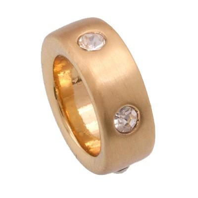 CLIXS Kettenanhänger Ring 12mm, vergoldet mit Strass