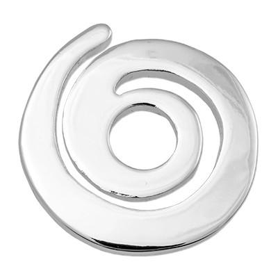 Wechselringe Metallscheibe Spitze Spirale, versilbert