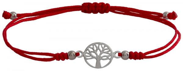 Wunscharmbändchen Lebensbaum • 925er Silber • Rot