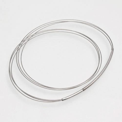 CLIXS Halskette Stahlreif dreifach, silberfarben - 38cm bis 50cm