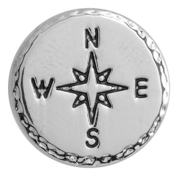 SlideOn Charm Kompass versilbert • Slider für Mesh-Sammelarmband