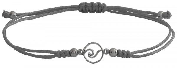 Wunscharmbändchen Welle • 925er Silber • Grau