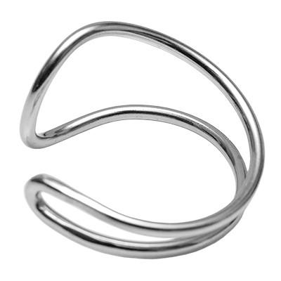 Ring Gochas silberfarben - Größe einstellbar von 50-54 und 56-60