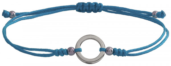 Wunscharmbändchen Kleiner Kreis • 925er Silber • Hellblau