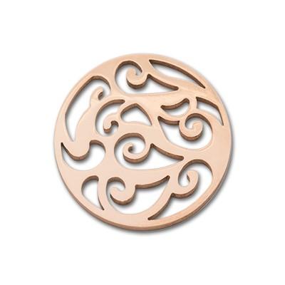 Edelstahlamulette Kettenanhänger Akpinar 33mm - rosévergoldet