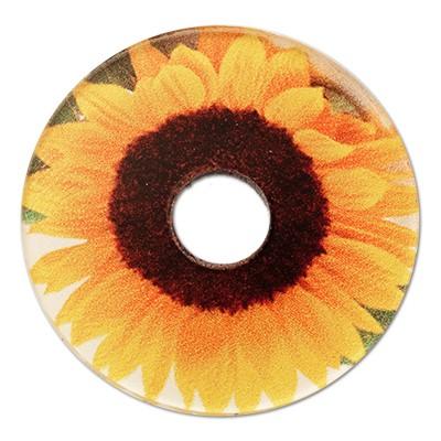 Wechselringe Acrylscheibe Sonnenblume, 30mm