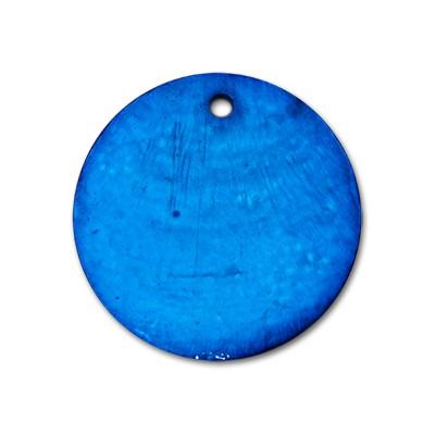 Edelstahlamulette Perlmuttscheibe 35mm - Blau