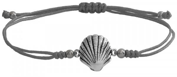 Wunscharmbändchen Sea Shell • 925er Silber • Grau