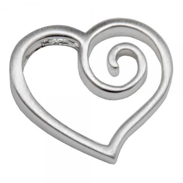 CLIXS Kettenanhänger Herz mit Spirale, versilbert