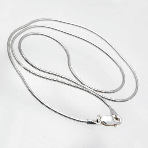 CLIXS Halskette Schlangenkette 38cm bis 80cm - 1,2mm - 925er Sterlingsilber