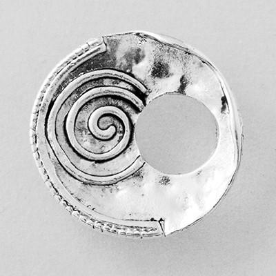 Wechselringe Metallscheibe Antikscheibe mit Spirale