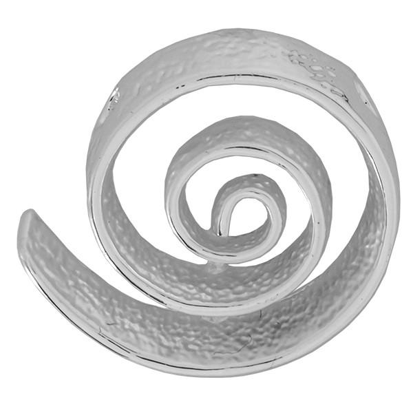 CLIXS Kettenanhänger Spirale Comago, versilbert