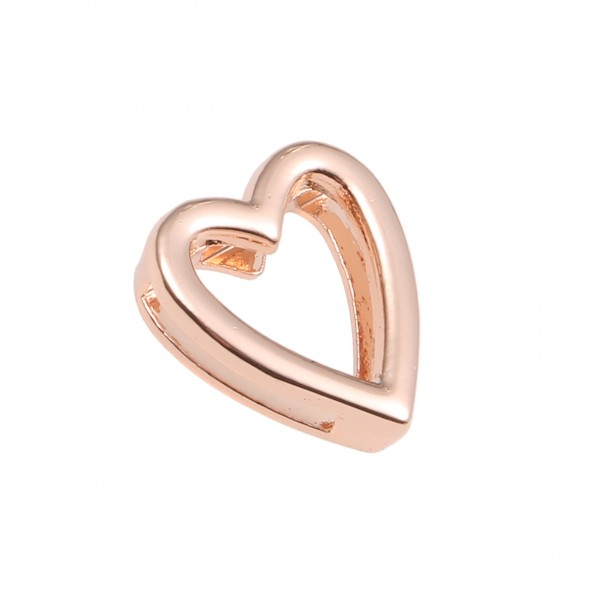 SlideOn Charm Herz rosévergoldet • Slider für Mesh-Sammelarmband