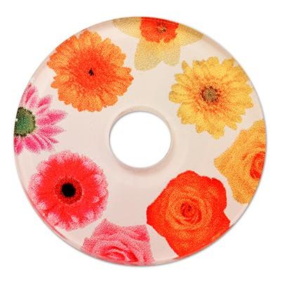 Wechselringe Acrylscheibe Blumen, 30mm