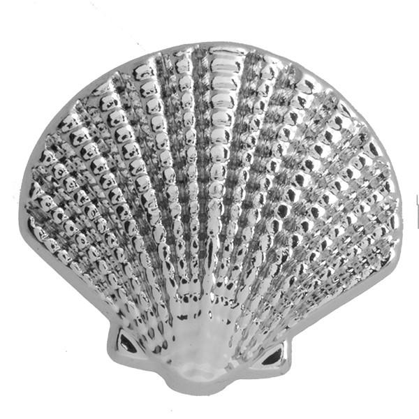 SlideOn Charm Seemuschel Seashell versilbert • Slider für Mesh-Sammelarmband