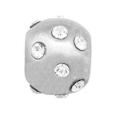 CLIXS Kettenanhänger Perle 8mm, versilbert mit Strass