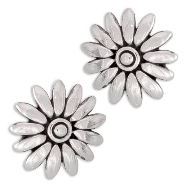 CLIXS Ohrringe Ohrstecker Blume, versilbert