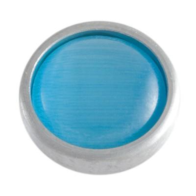 Wechselringe Top Katzenauge Hellblau, 12 mm